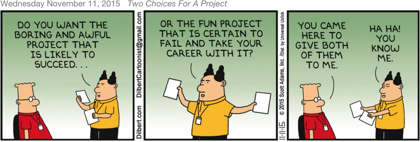 Two Choices for a Project